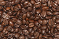 Brown coffee beans background Royalty Free Stock Images
