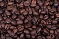 Brown coffee beans background texture Royalty Free Stock Photos