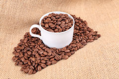 Brown coffee beans background Stock Photography