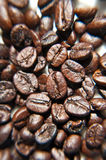Brown coffee beans, blur background. Texture Royalty Free Stock Image