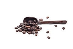 Brown coffee beans isolated Stock Photos