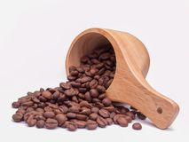 Brown coffee beans. Royalty Free Stock Photos