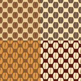 Brown coffee beans, seamless pattern Royalty Free Stock Photos