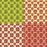 Brown coffee beans, seamless pattern Royalty Free Stock Images