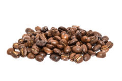 Brown Coffee Beans On White Backgrounds Royalty Free Stock Photos