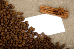 Brown coffee with cinnamon and spices Stock Image
