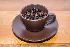 Brown Coffee In Cup Royalty Free Stock Photo