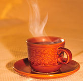 Brown coffee cup Royalty Free Stock Image