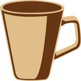 Brown coffee cup, icon Royalty Free Stock Photography