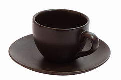 Brown Coffee Cup (Isolated) Royalty Free Stock Photography