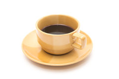 Brown coffee cup Stock Photography