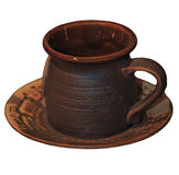 Brown coffee cup Royalty Free Stock Photo