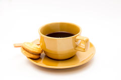 Brown coffee cup Stock Photo