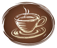 Brown Coffee cup Royalty Free Stock Photography