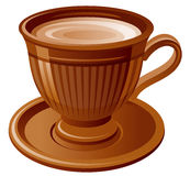 Brown Coffee cup Royalty Free Stock Photos