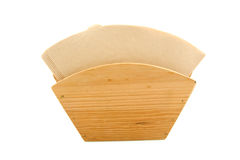 Brown coffee filter Stock Image