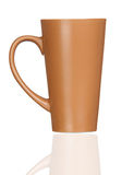 Brown coffee mug Stock Photos