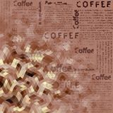 Brown coffee pattern Royalty Free Stock Images