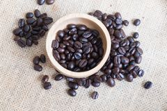 Brown coffee seeds Royalty Free Stock Photo