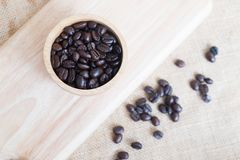 Brown coffee seeds Stock Photos
