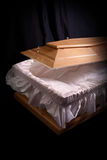 Brown coffin Royalty Free Stock Photography