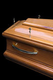 Brown coffin Stock Images