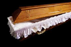 Brown coffin Stock Image
