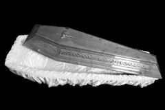 Brown coffin Stock Photos