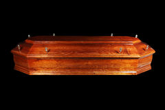 Brown coffin Stock Photography
