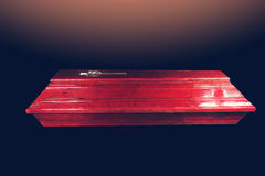 Brown coffin Stock Photo