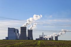 Brown cole power station royalty free stock photo