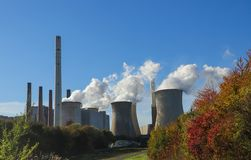 Brown cole power station stock image
