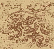 Brown color art pattern Stock Photo