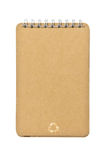 Brown Color Cover Note Book Recycle Stock Image