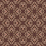 Brown color diamond shape seamless pattern Stock Photo