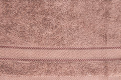 Brown color of fabric pattern background Stock Photo