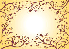 Brown color leaf illustration Stock Photography