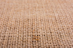 Brown color linen canvas as a background texture Royalty Free Stock Photos