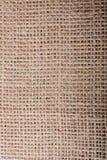 Brown color linen canvas as a background texture Royalty Free Stock Photos