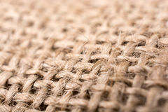 Brown color natural linen texture. Fabric Royalty Free Stock Image
