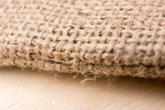 Brown color natural linen texture. Fabric Royalty Free Stock Photography