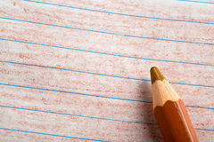 Brown color pencil with coloring Royalty Free Stock Photo