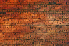 Brown Colored Brick Wall Stock Photo