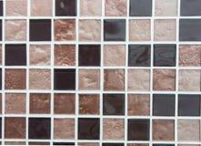 Brown colored mosaic tiles Stock Photos