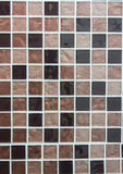 Brown colored mosaic tiles Stock Photography