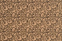Brown colored patterned fabric texture. Details of the texture and weaving of brown fabric royalty free stock photos