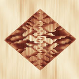 Brown colored rhomboid technological structure Royalty Free Stock Image