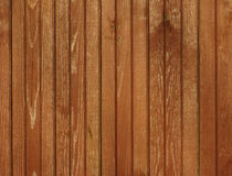 Brown colored wooden background Stock Photography