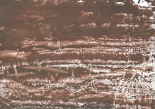 Brown colorful wash drawing pattern. Hand-drawn abstract watercolor texture. Used contrasting and transient colors Royalty Free Stock Photo
