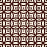 Brown abstract background with overlapping circles. Petals motif. Seamless pattern with classic geometric ornament Royalty Free Stock Photos